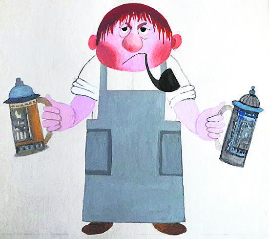 """Karczmarz, """"Diabelskie skrzypce"""", Natalia Gołębska, reżyseria Joanna Piekarska, (1978)"""