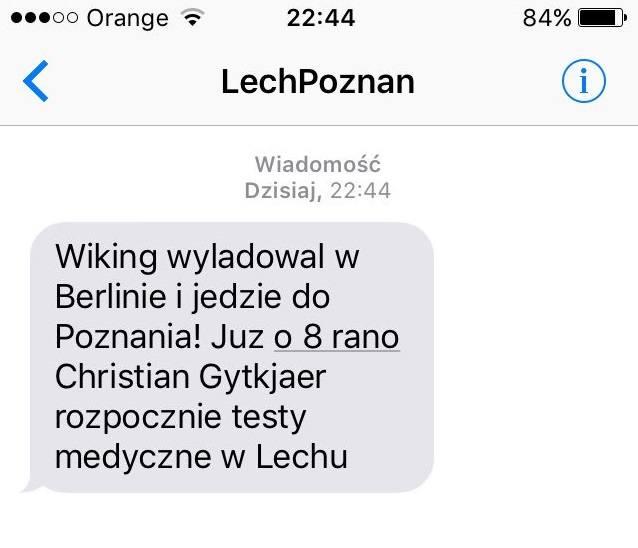 Lech takimi wiadomościami raczy kibiców przy każdym transferze.