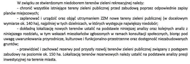 Urzędnicy podsumowują, że trzeba chronić tereny zielone w Krakowie