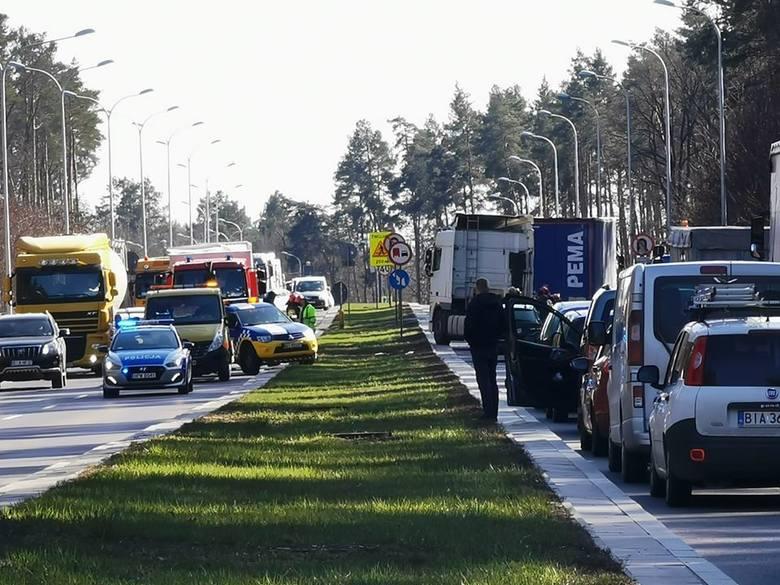 Wypadek na DK 8, wjazd do Białegostoku od strony Augustowa