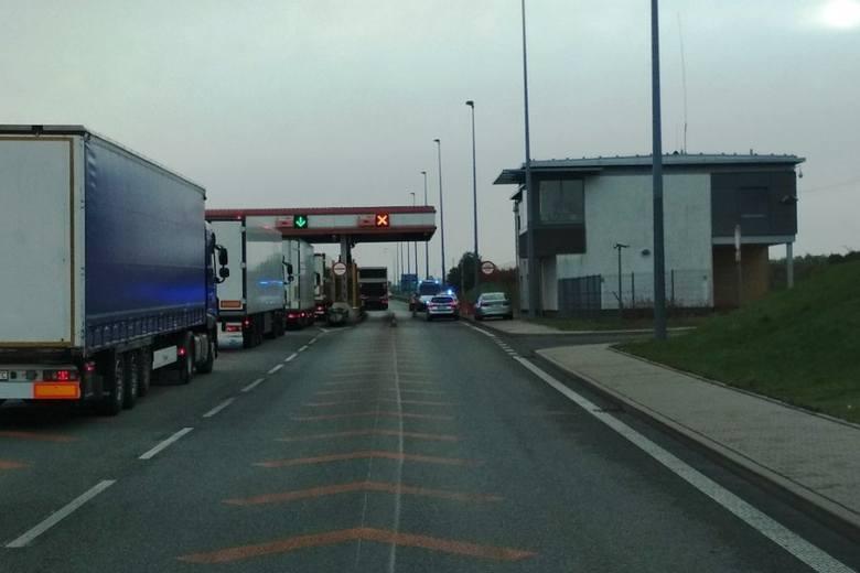 Policja kontrolowała kierowców wjeżdżających na autostradę A2