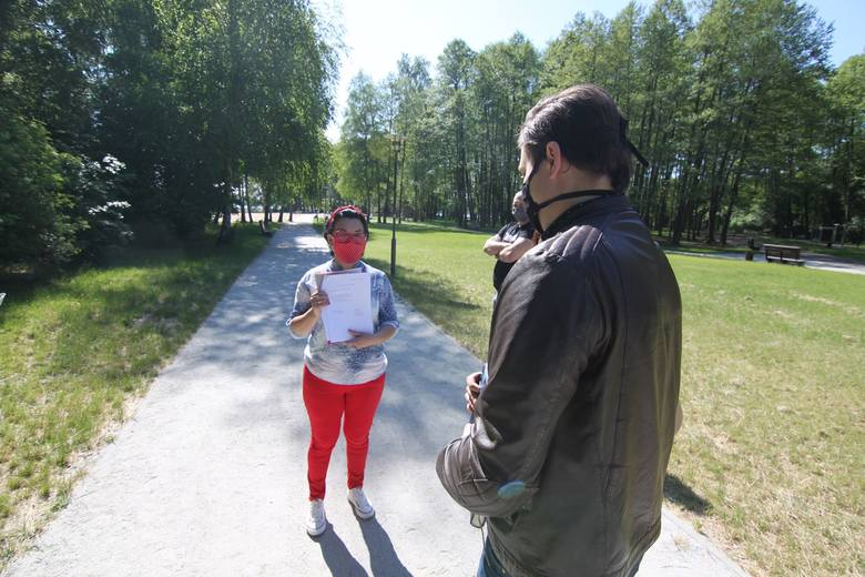 Spotkanie Katarzyny Zambroziewicz na terenie cypla w Jodłowie, piątek, 22 maja 2020 r.