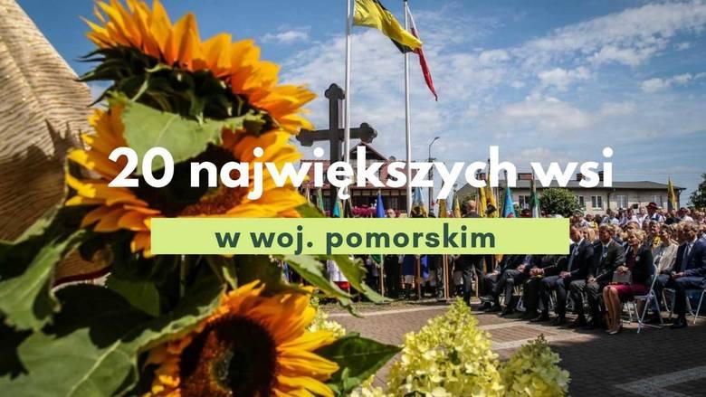 Top 20 największych wsi w woj.pomorskim. Gdzie na wsi mieszka najwięcej Pomorzan?