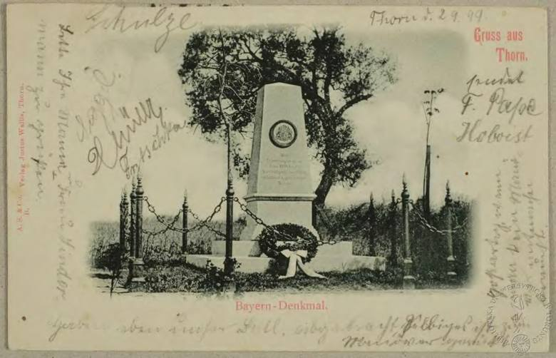 Jedną z pamiątek, jaka pozostała w Toruniu po czasach napoleońskich jest cmentarz i pomnik Bawarczyków, którzy bronili miasta przed Rosjanami w 1813