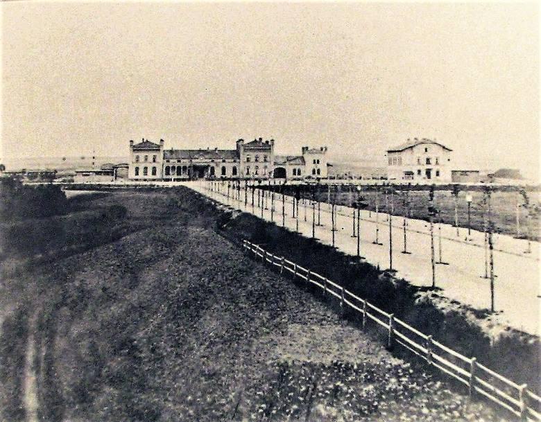 Prawdopodobnie najstarsze zdjęcie obecnej alei Wojska Polskiego z ok. 1880 r.  gdy na mokradłach pomiędzy dworcem kolejowym a starym miastem nasadzono dwa rzędy lip