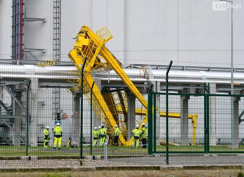 Wiatr uszkodził instalacje LNG w Świnoujściu [ZDJĘCIA]