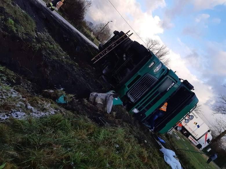 W poniedziałek w miejscowości Gościnko na drodze krajowej nr 6 w powiecie białogardzkim doszło do groźnie wyglądającego zdarzenia drogowego z udziałem