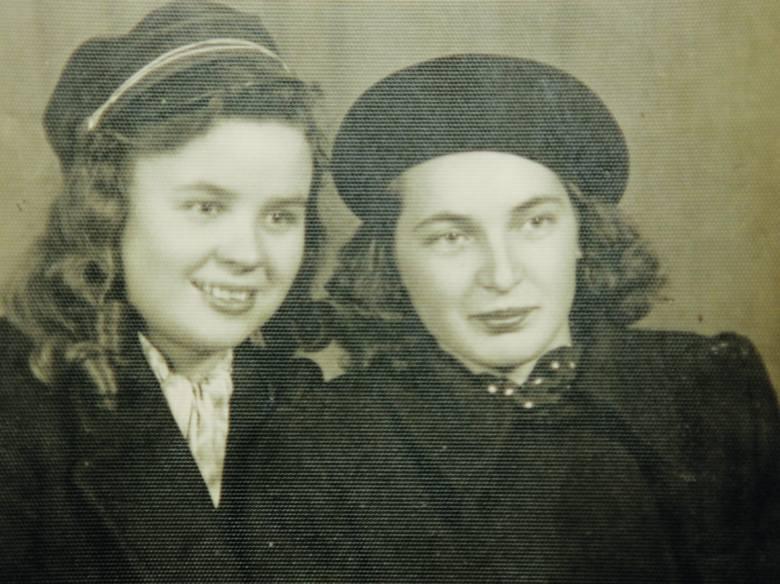 Żagań 1950. Aniela i Krysia, żona Władka.