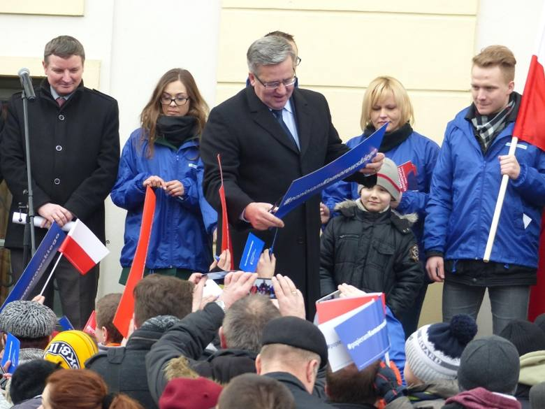Bronisław Komorowski spotkał się z mieszkańcami miasta (zdjęcia)