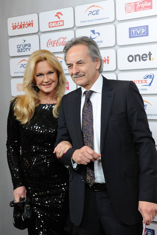Bal Mistrzów Sportu. Na zdjęciu: Grażyna Torbicka i jej mąż Adam