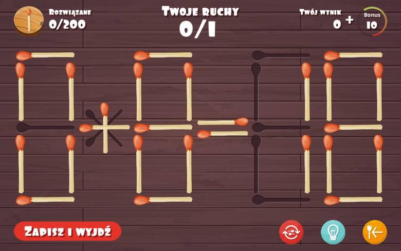 Zasady gry są proste. Należy ułożyć zapałki w odpowiedniej konfiguracji tak, aby równanie matematyczne stworzone przy ich pomocy było poprawne.