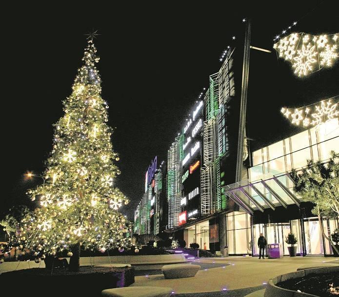 Gdyńskie Centrum Handlowe Riviera w pełnym świątecznym rynsztunku. Brakuje tylko śniegu, ale to podobno tylko kwestia dni