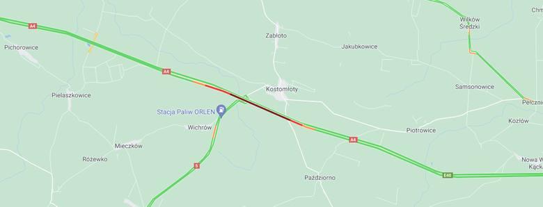 Utrudnienia na A4 w kierunku Wrocławia. Tworzy się spory korek