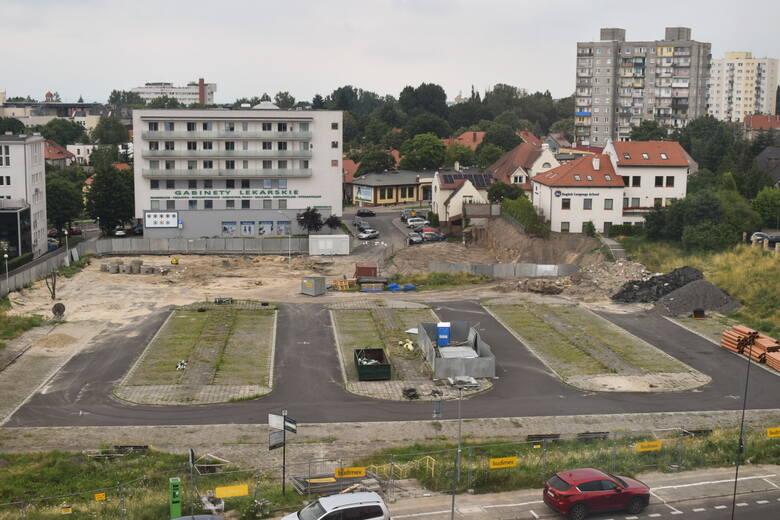 Plac budowy przy zielonogórskiej Palmiarni