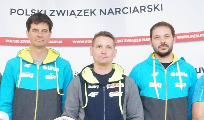 Od lewej: Stefan Horngacher, Grzegorz Sbczyk i Michal Doleżal