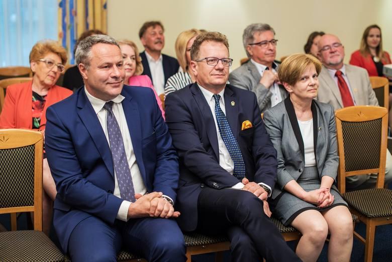 Rafał Bruski, Radosław Bielicki oraz Aldona Bejenka.