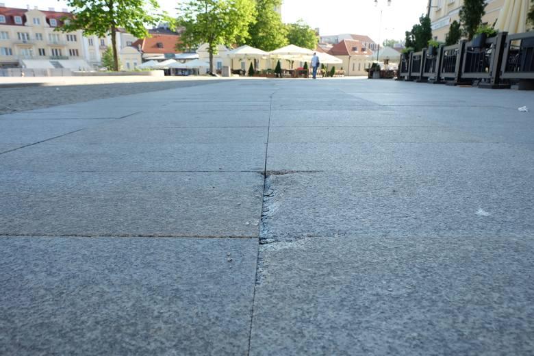 Rynek Kościuszki w Białymstoku do remontu. Miasto naprawi uszkodzoną nawierzchnię (zdjęcia)