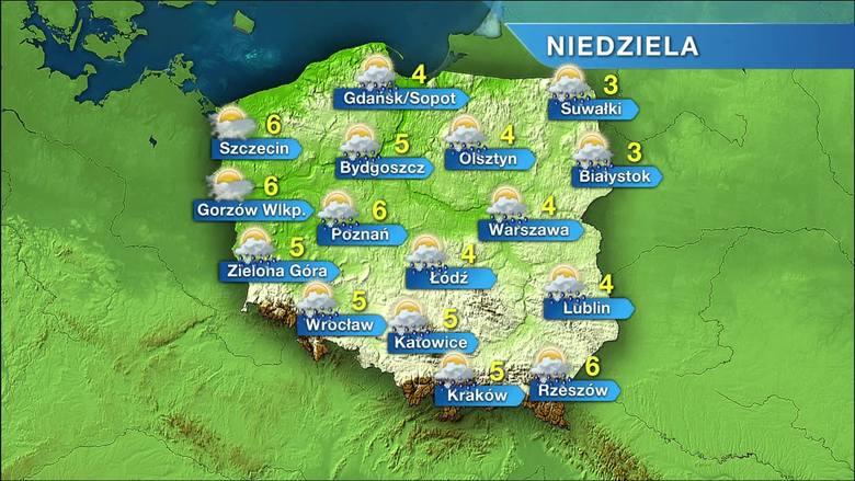Prognoza pogody na niedzielę 27 listopada