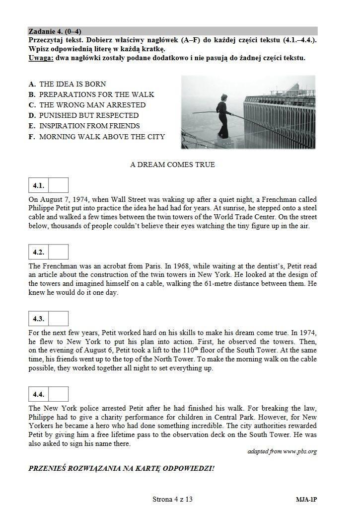 MATURA Z JĘZYKA ANGIELSKIEGO. Arkusz CKE, odpowiedzi, tematy, rozwiązania [matura język angielski] Co było na egzaminie maturalnym? 09.05