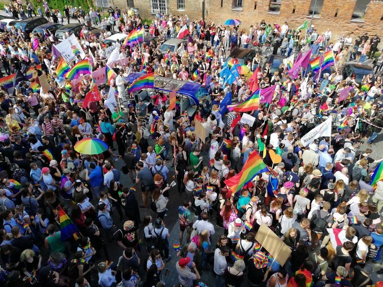 26.05.2018 Gdańsk IV Trómiejski Marsz Równosci przeszedł ulicami miasta - w manifestacji udział wzięło kilka tysięcy ludzi.