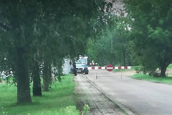 Grajewo. Znaleziono niewybuch na terenie placu budowy nowego Sądu Rejonowego przy ul. Wojska Polskiego (zdjęcia)