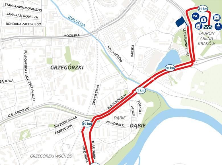 Trasa 6. PZU Cracovia Półmaratonu 2019