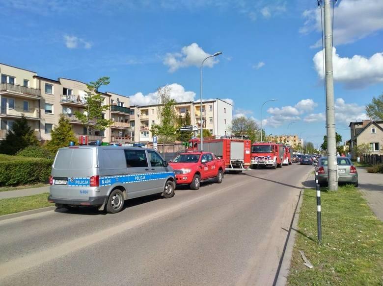 Pożar mieszkania w Pruszczu Gdańskim. Zapaliła się elektryczna hulajnoga. 7.05.2020 r.