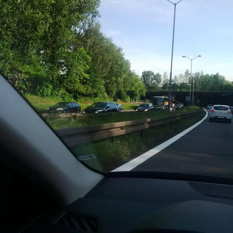 Wypadek na DK 86 Katowice - Tychy