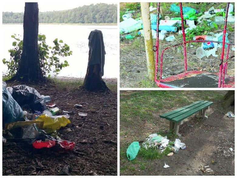 Plaże nad jeziorami toną w śmieciach, bo nie sprzątamy po sobie (zdjęcia)