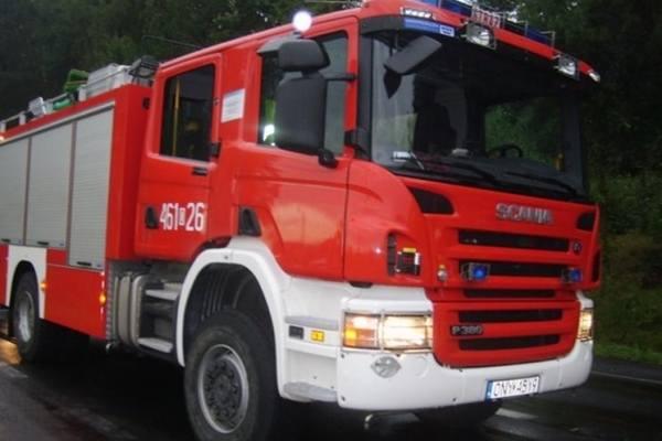 Pożar w zakładzie produkującym brykiet pod Głubczycami