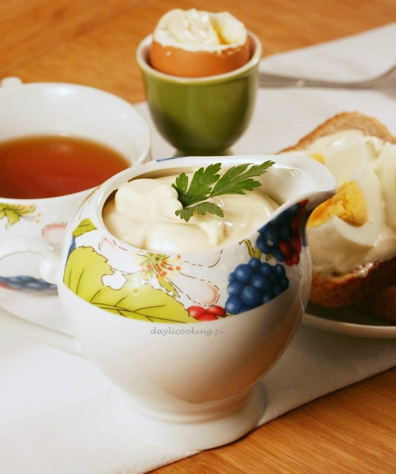 Tak prezentuje się domowy majonez przygotowany przez Małgorzatę Kijowską
