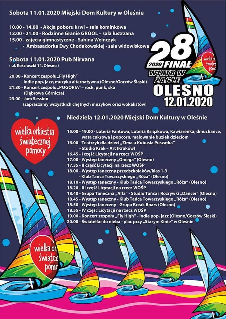 Program WOŚP 2020 w Oleśnie.