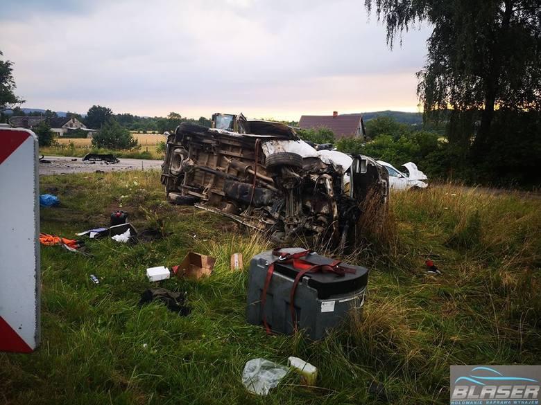 Wypadek w Kębłowie [24.07.2020]