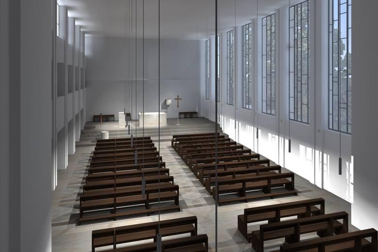Tak wygląda wnętrze kościoła na wizualizacji