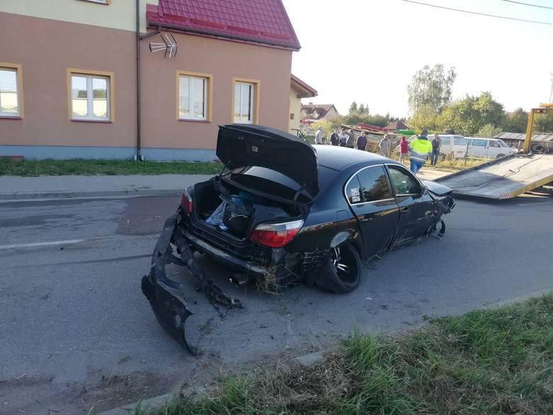 Zdarzenie drogowe miało miejsce w poniedziałek przed godziną 16.