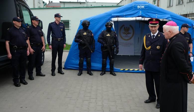 W Komendzie Regionalnej Straży Ochrony Kolei w Przemyślu oddano do użytku zmodernizowane pomieszczenia służbowe.