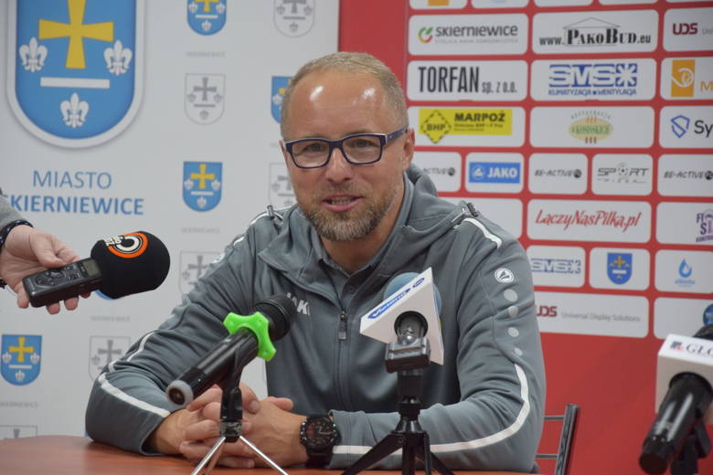 Konferencja prasowa po meczu Unii Skierniewice z Piastem Gliwice [ZDJĘCIA, FILM]