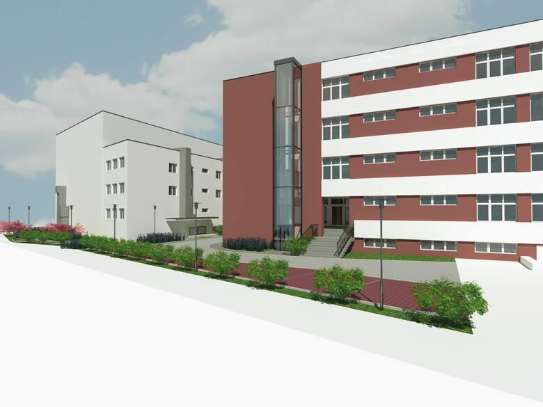 Wizualizacja przebudowanego kampusu UE