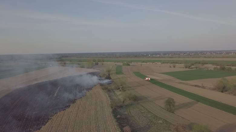 Pożaru pól w rejonie ul. Dolnoleżajskiej w Jarosławiu sfotografowany z drona. Zdjecia otrzymaliśmy od internauty. Dziękujemy!