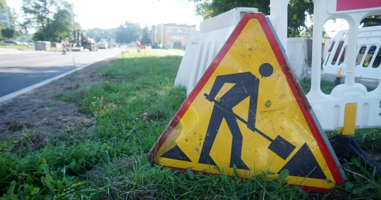 Poślizg przy remoncie ulicy Kombatantów w Gorzowie. Kiedy zakończą się prace?