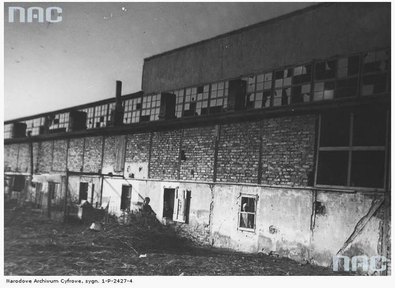 Osiedle bezrobotnych na terenie po Powszechnej Wystawie Krajowej - 1935 rok<br />