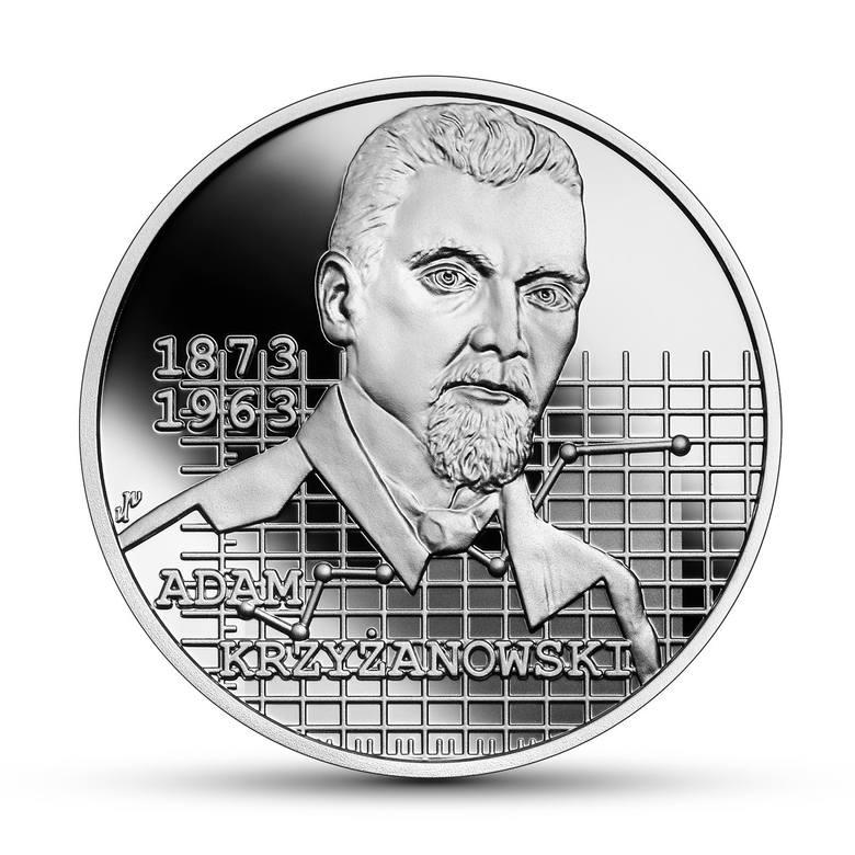 """Adam Krzyżanowski na monecie z serii """"Wielcy polscy ekonomiści"""""""