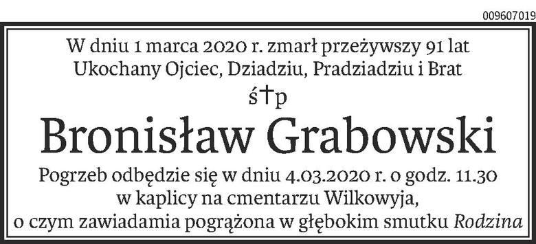 Nekrologi i Kondolencje z dnia 03 marca 2020 roku