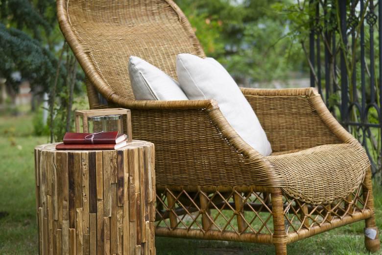 Wiklinowy fotel ogrodowy