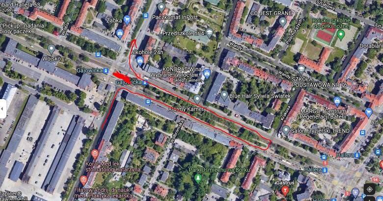 Zmiany dla kierowców jadących ulicą Gajowicką w kierunku centrum Wrocławia.
