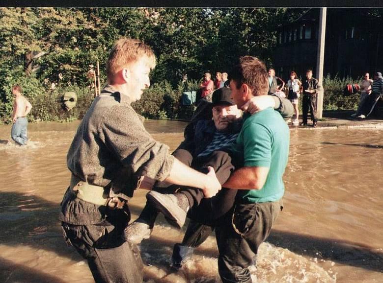 Powódź 1997 w Opolu. (Pawel Stauffer)