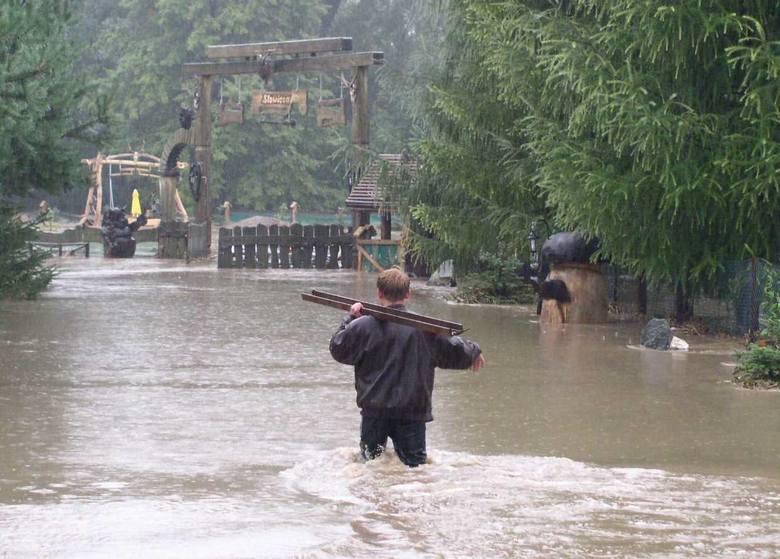 Powódź w Cieszynie spowodowana przez ulewne deszcze była już w 2005 roku