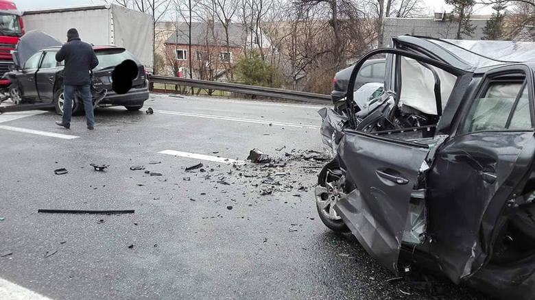 Śmiertelny wypadek na drodze 94 w Gotkowicach między Olkuszem a Krakowem