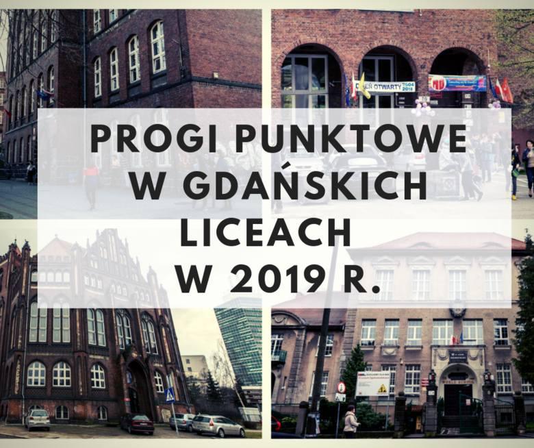 TUTAJ SPRAWDZISZ PROGI PUNKTOWE w liceach ogólnokształcących w Gdańsku w 2019 r. W pierwszej kolejności podajemy progi w klasach dla ABSOLWENTÓW SZKÓŁ