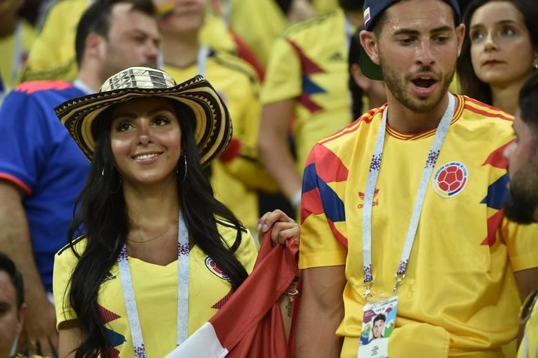 Kibice na meczu Polska - Kolumbia